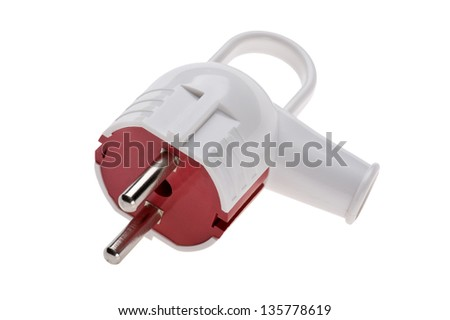New Electric plug isolated on white background