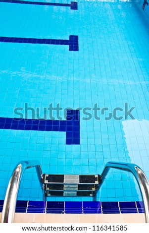 new empty public swimming pool - stock photo