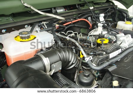 New engine - stock photo