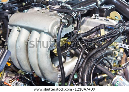 New engine of a modern car truck