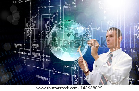 New engineering technologies - stock photo