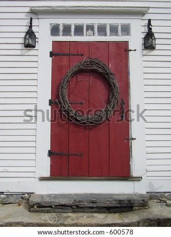 New England Entrance - stock photo