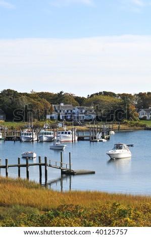 New England Marina - stock photo