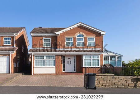 New english detached house - stock photo