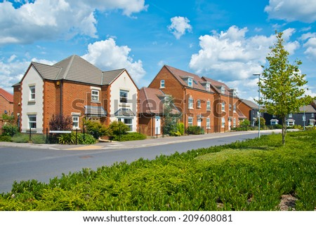 New English Estate - stock photo