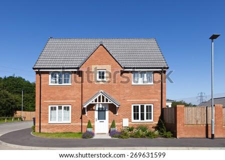 New english house view - stock photo