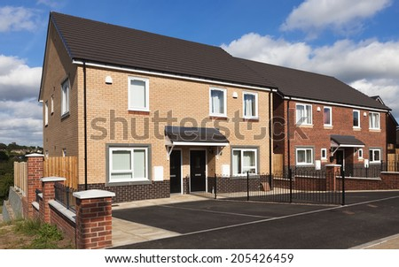 New english houses  - stock photo
