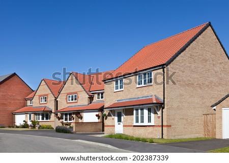 New english street view - stock photo