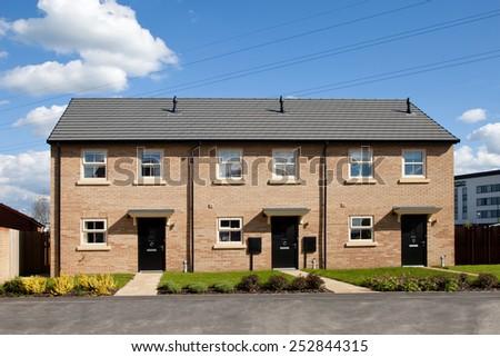 New english townhouse  - stock photo
