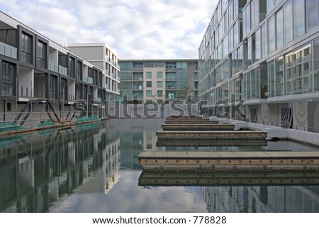 New executive apartments in Auckland Viaduct Basin - stock photo