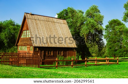 New family house in the village.  - stock photo