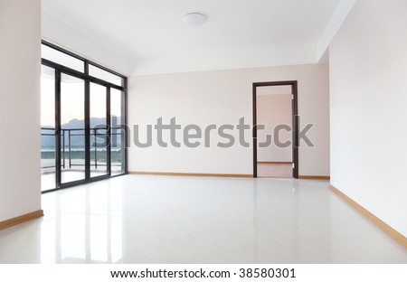 New family room ready for new homeowners in China. - stock photo