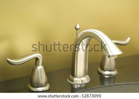 New faucet close-up - stock photo