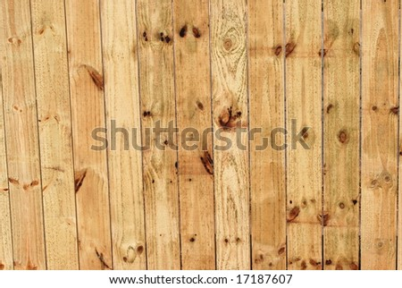 new fence boards - stock photo
