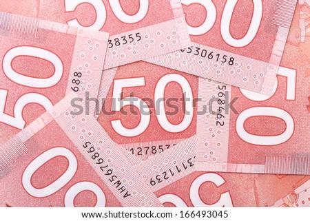 New fifty dollar bill background - stock photo