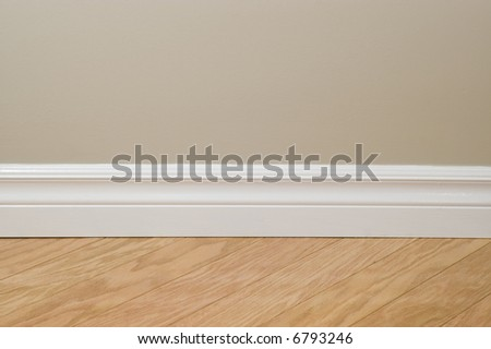 New flooring and wall detail - stock photo
