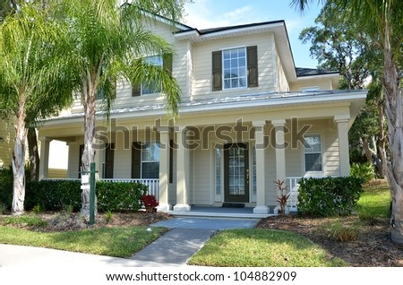 New Florida constructed home for sale - stock photo