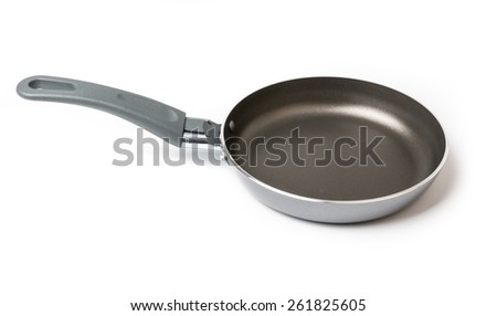 New Frying pan isolated on white background - stock photo