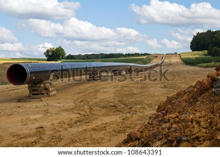 new gas pipelines being built in Bavaria - stock photo