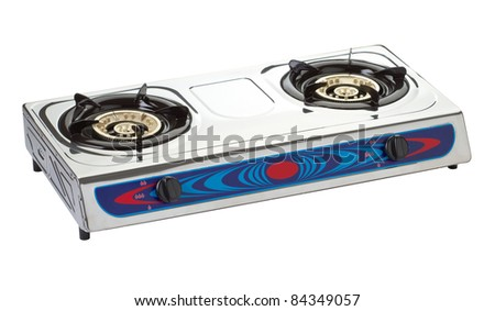 New gas stove the necessary kitchenware for your home - stock photo