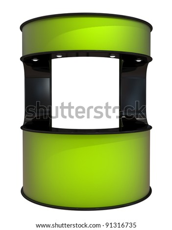 new green counter - stock photo