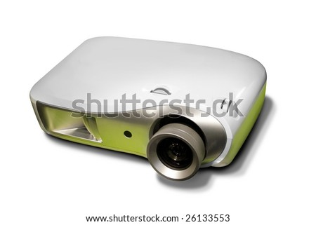 new grey projector isolated on white background