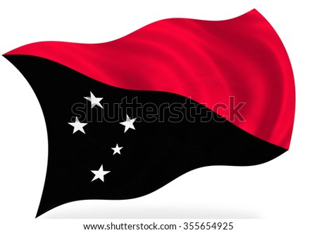 New Guinea flag, isolated
