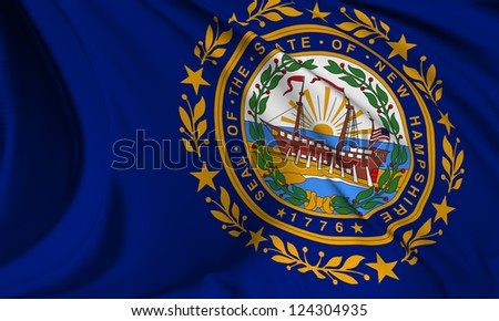 New Hampshire flag - USA state flags collection no_3 - stock photo