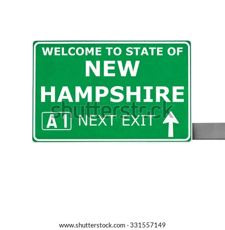 NEW HAMPSHIRE road sign isolated on white - stock photo
