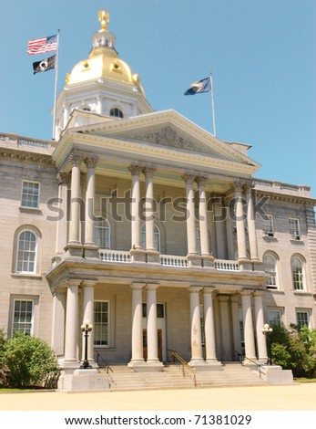 New Hampshire State Capitol Building - stock photo