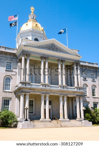 New Hampshire State House - stock photo