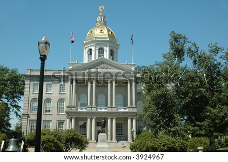 New Hampshire State House, Concord, NH - stock photo