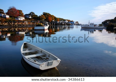 New Harbor, Pemaquid Point, Maine - stock photo