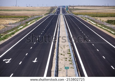 New highway in Eastern Europe