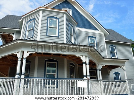 New home being constructed at St. Augustine, Florida - stock photo