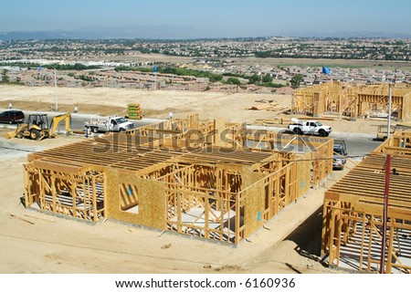 New Home Construction Site - stock photo