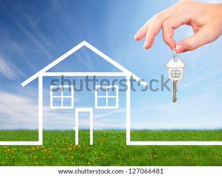New home. Family house construction concept. - stock photo
