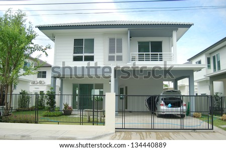 New home. Family house  modern homes - Luxury house at Thailand - stock photo
