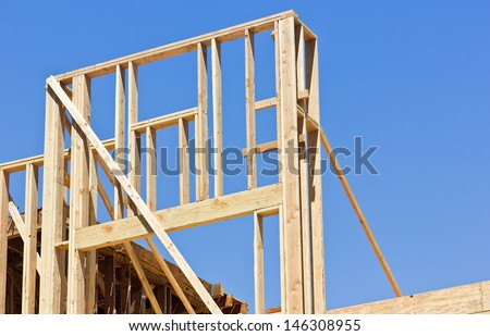 New home is under construction. - stock photo