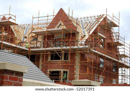 New homes being built in Lancashire England