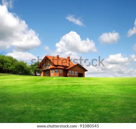 New house - stock photo