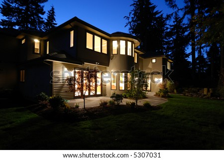 New House at Night
