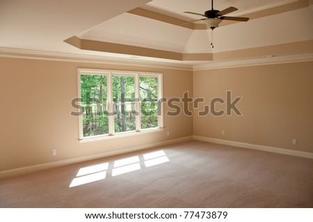 new house bedroom - stock photo
