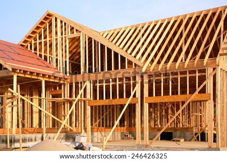 House frame stock images royalty free images vectors for New house construction steps