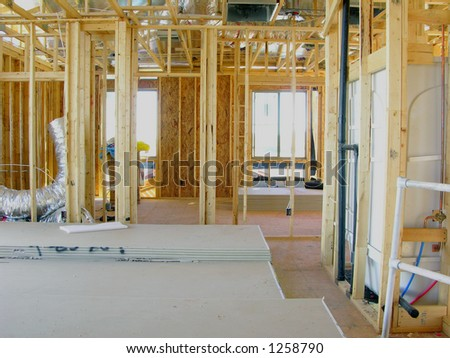 New house construction interior