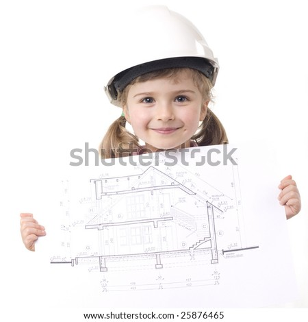 New house plan - stock photo