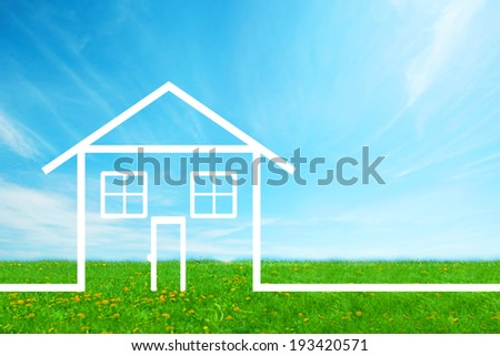 New House Real estate background.  Mortgage concept. - stock photo