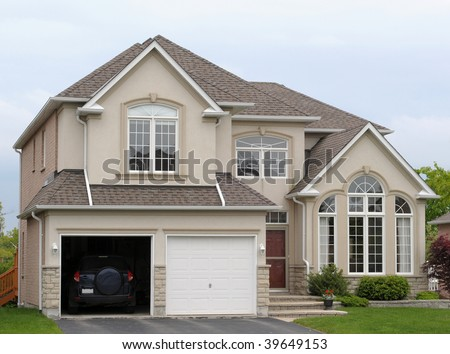 New house with a double garage