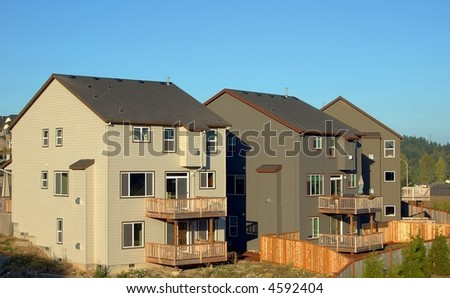 New Houses Back View - stock photo