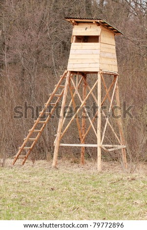 New hunting tower in the forest